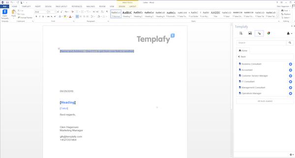 Word templates