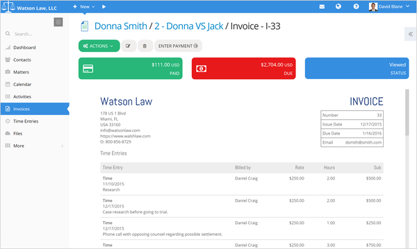 PracticePanther Legal Software - 2019 Reviews, Pricing & Demo