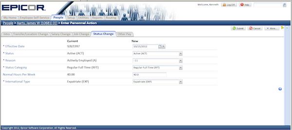 Epicor HCM - Track request status