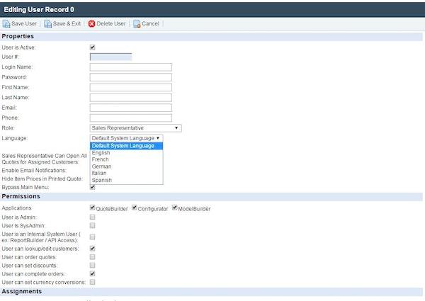 CIS Configurator - Language