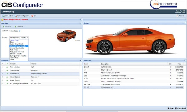CIS Configurator - Configurator
