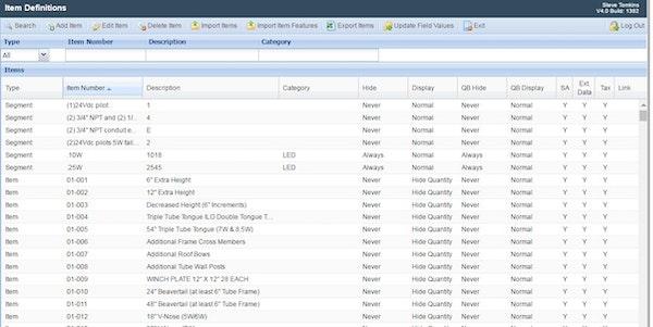 CIS Configurator - Items