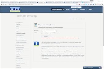 Remote desktop browser