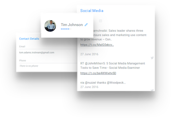 Capture client information from social media