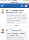 Edmodo - Mobile view