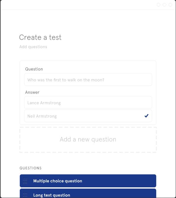 Test creation module