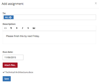 Add assignments for students