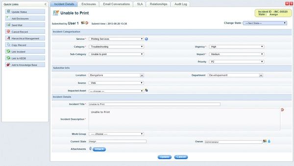 SapphireIMS - Incident management