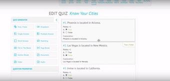 Create quizzes