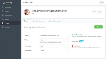 Edit user information