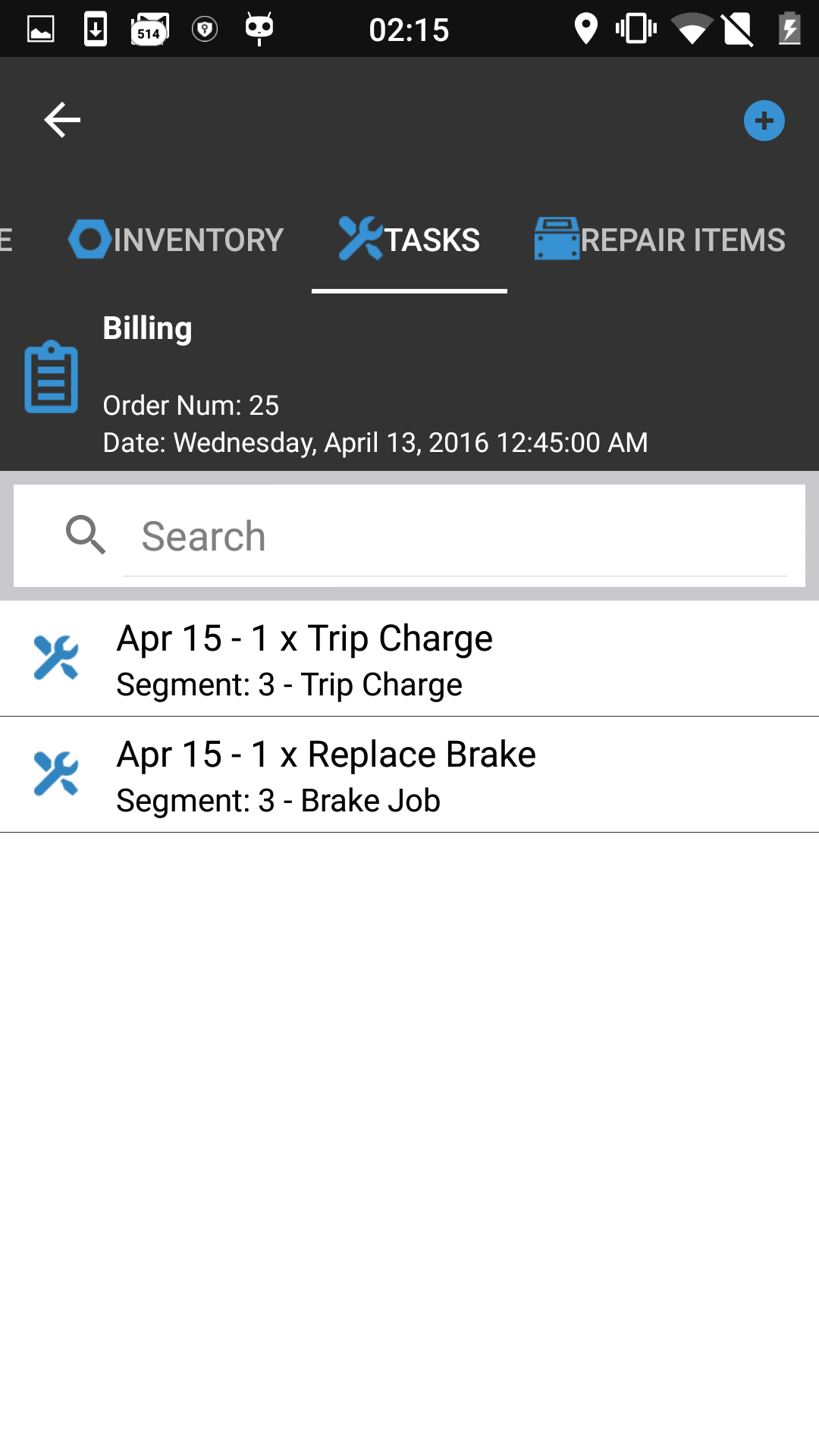 Work Job Details