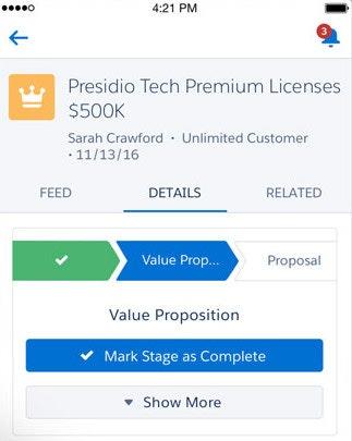 Salesforce.com - Mobile customer information