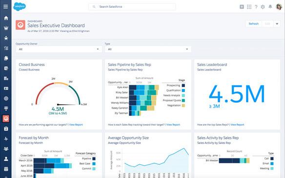 Salesforce.com - Sales executive dashboard