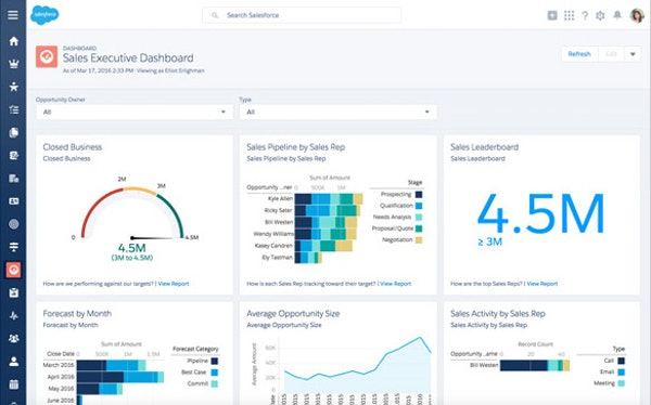 Salesforce.com - Sales executive dashboard