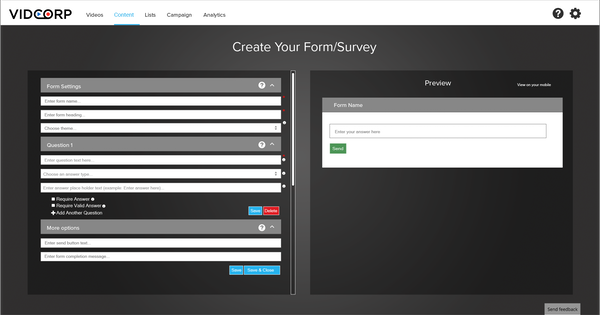 Create surveys