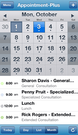AppointmentPlus  mobile calendar screenshot