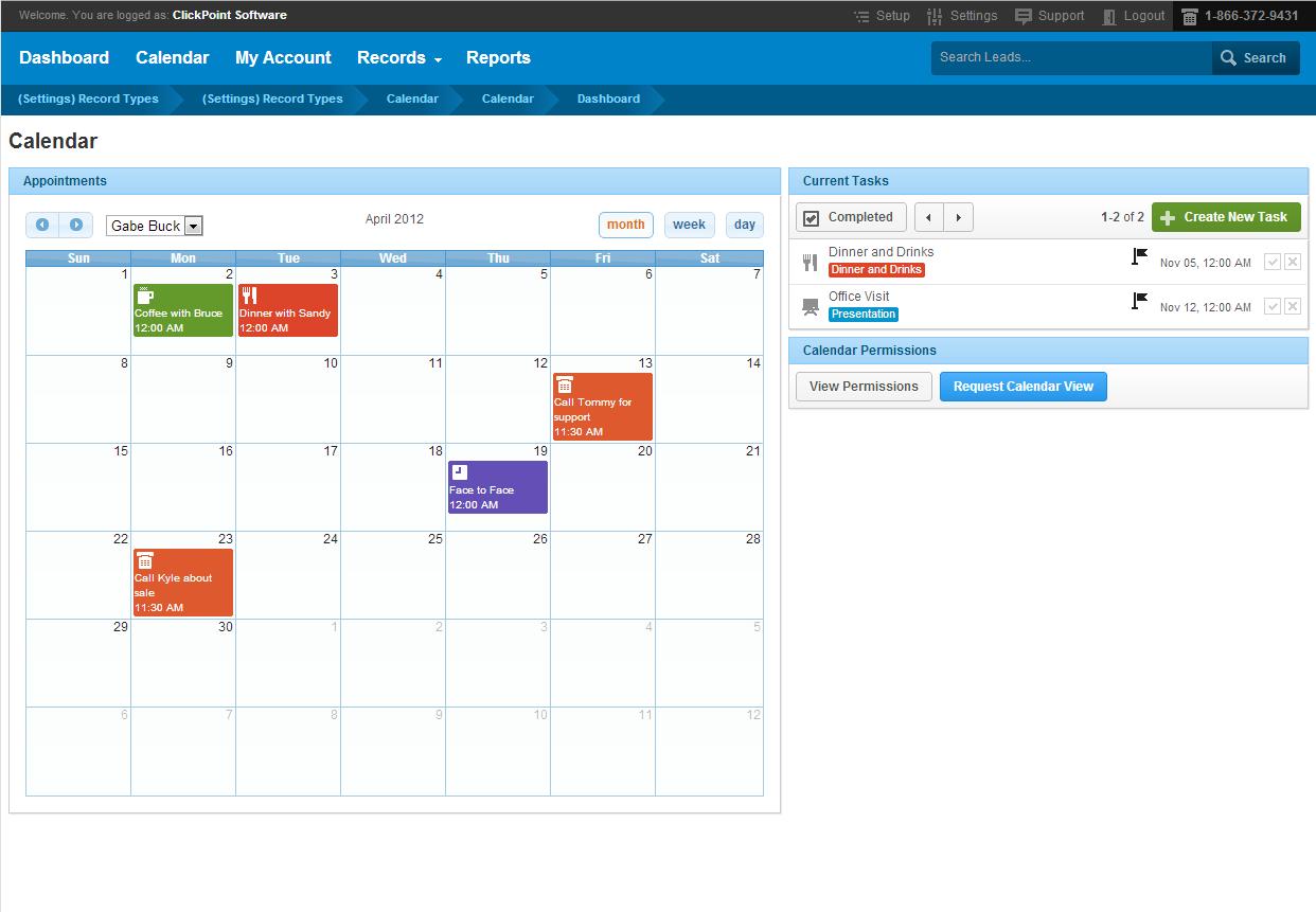 Outlook synced calendar