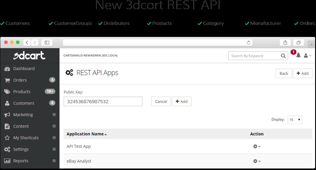 3dcart - API integrations