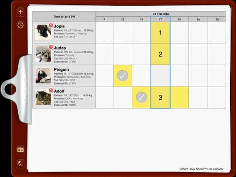 Treatment and task tracking