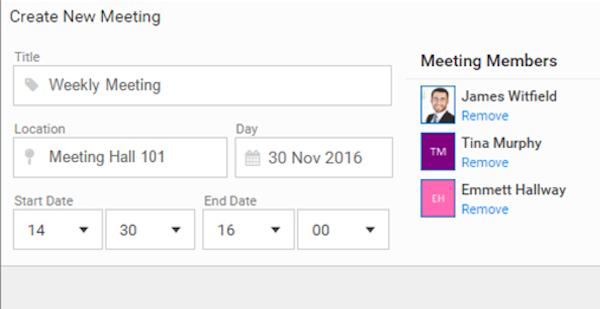 Plan meetings