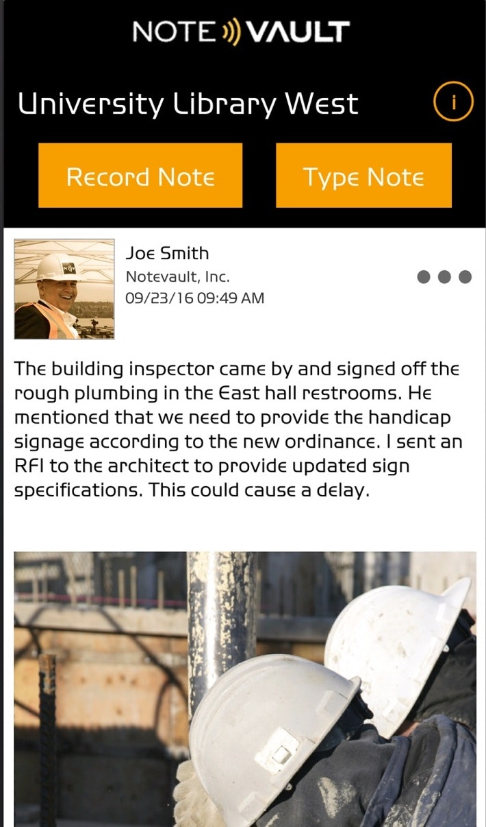 Daily construction reporting