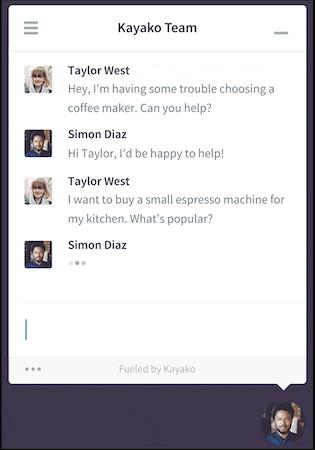 Kayako messenger screenshot