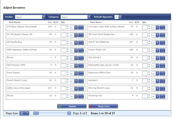 Inventory database