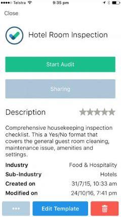 iAuditor - Start audit