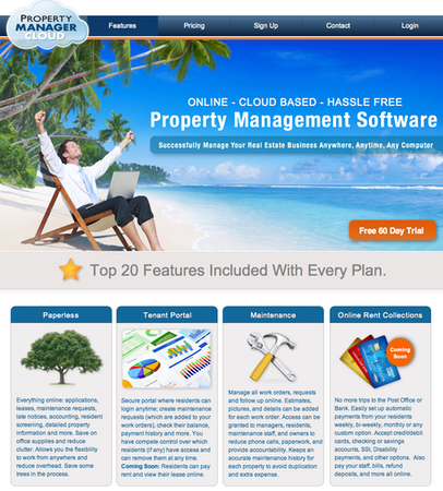 Property Manager Cloud - Home page