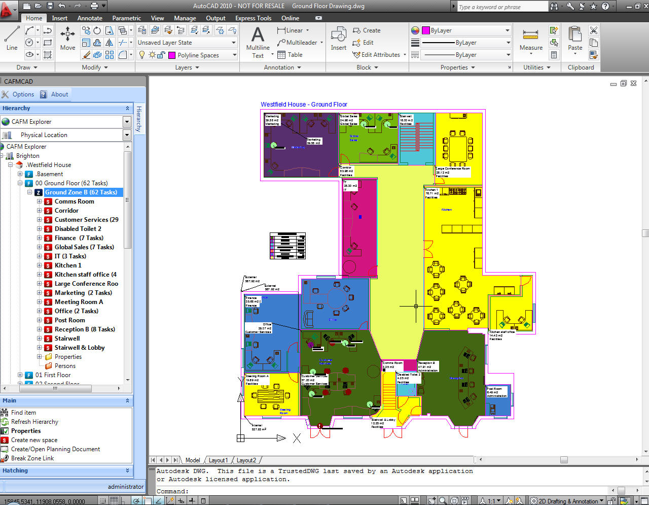 CAFM Explorer - Floor plan