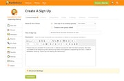 Create a sign up