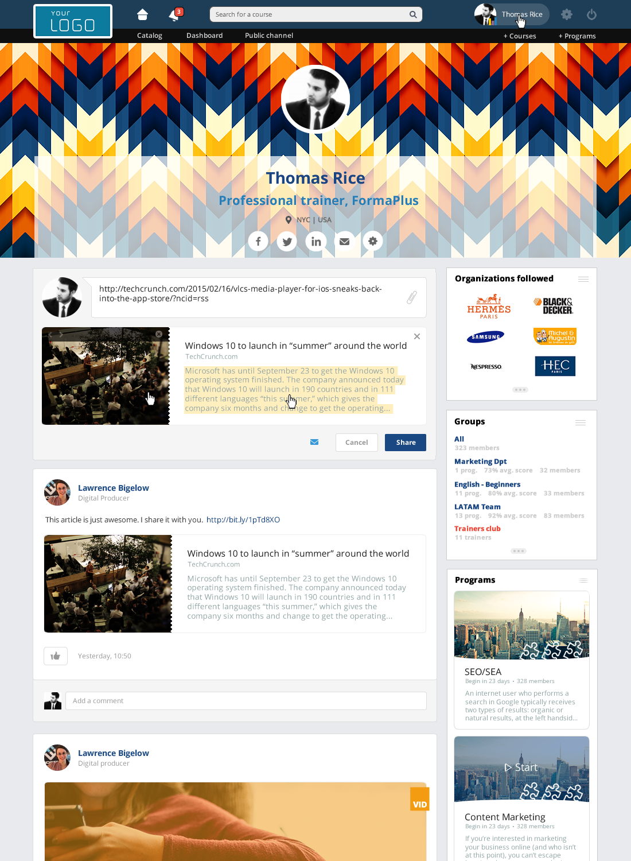 360LearningLMS - Profile