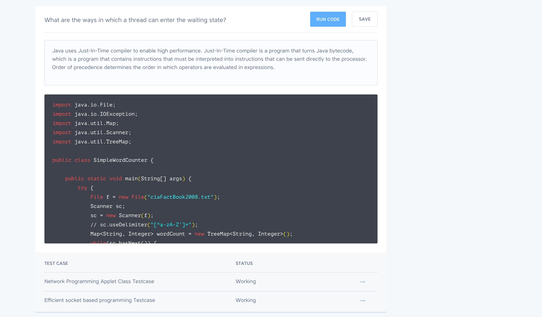 Code interview