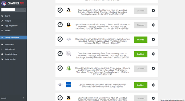 ChannelApe rules engine screenshot