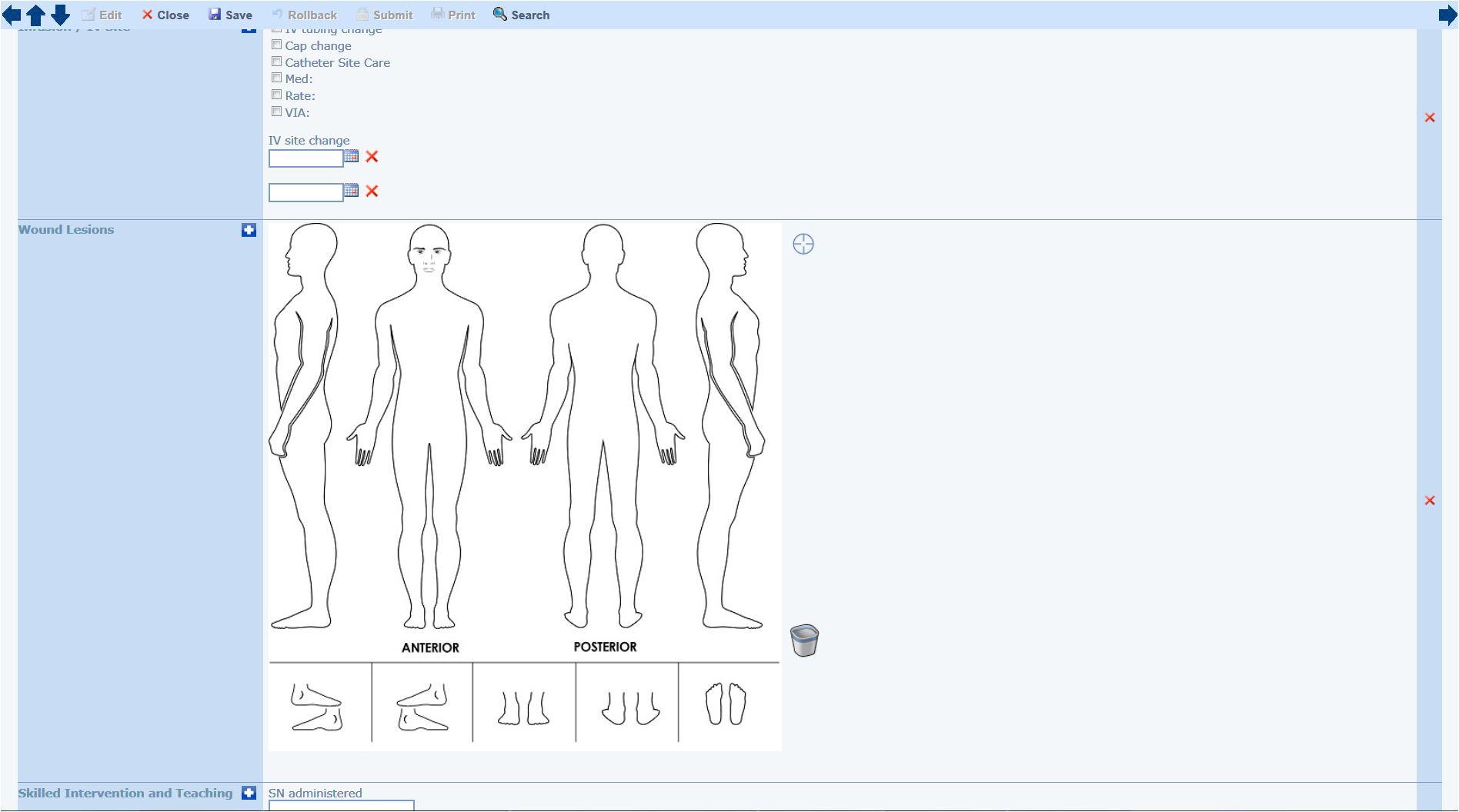 Medical charting