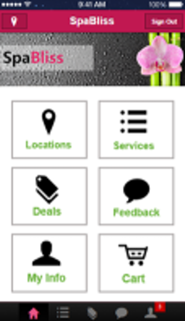 Customer mobile app