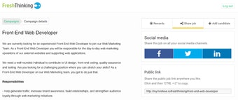 Description for job websites