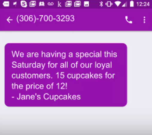 Text message campaign