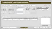 Equipment lease module