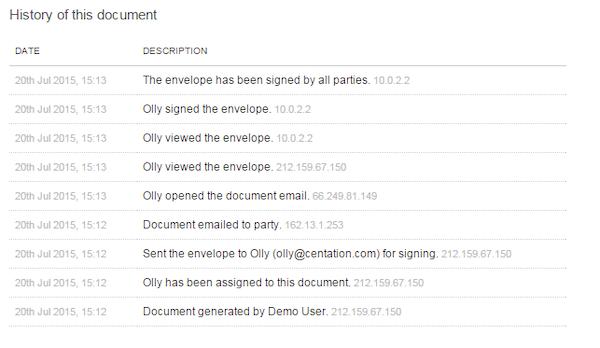 Document history