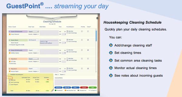 Housekeeping cleaning schedule