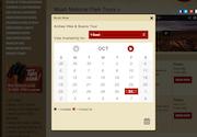 Website booking calendar