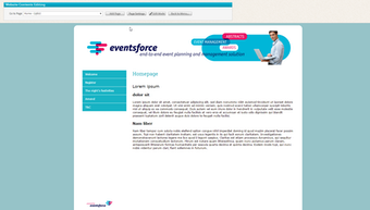Sample event website