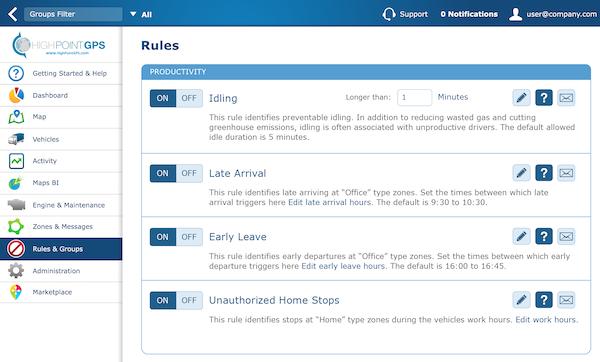 Custom real time rules