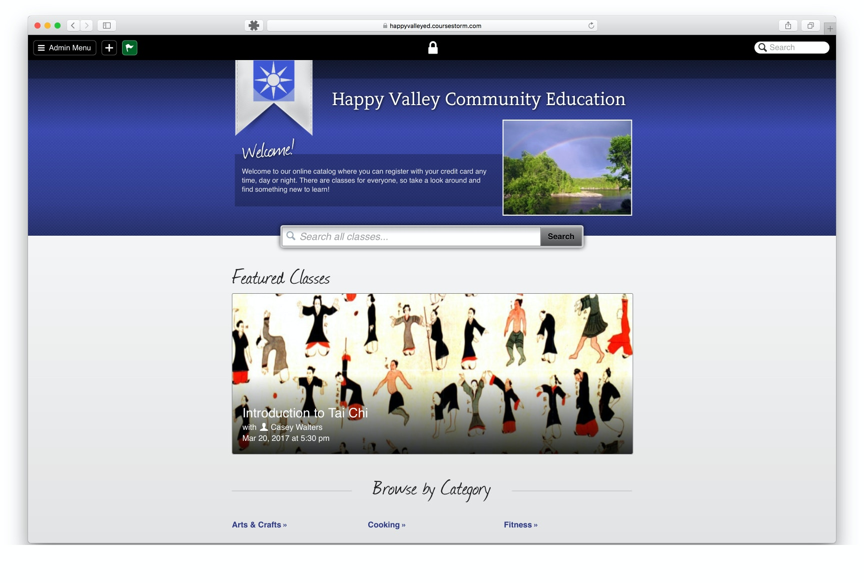 Example homepage