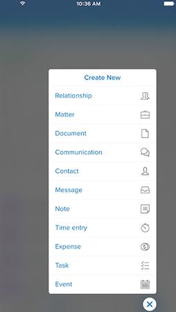 Clio - Create new item