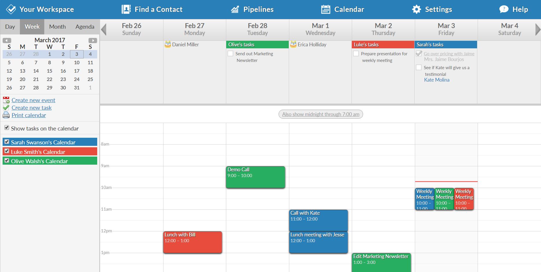 Less Annoying CRM - Calendar