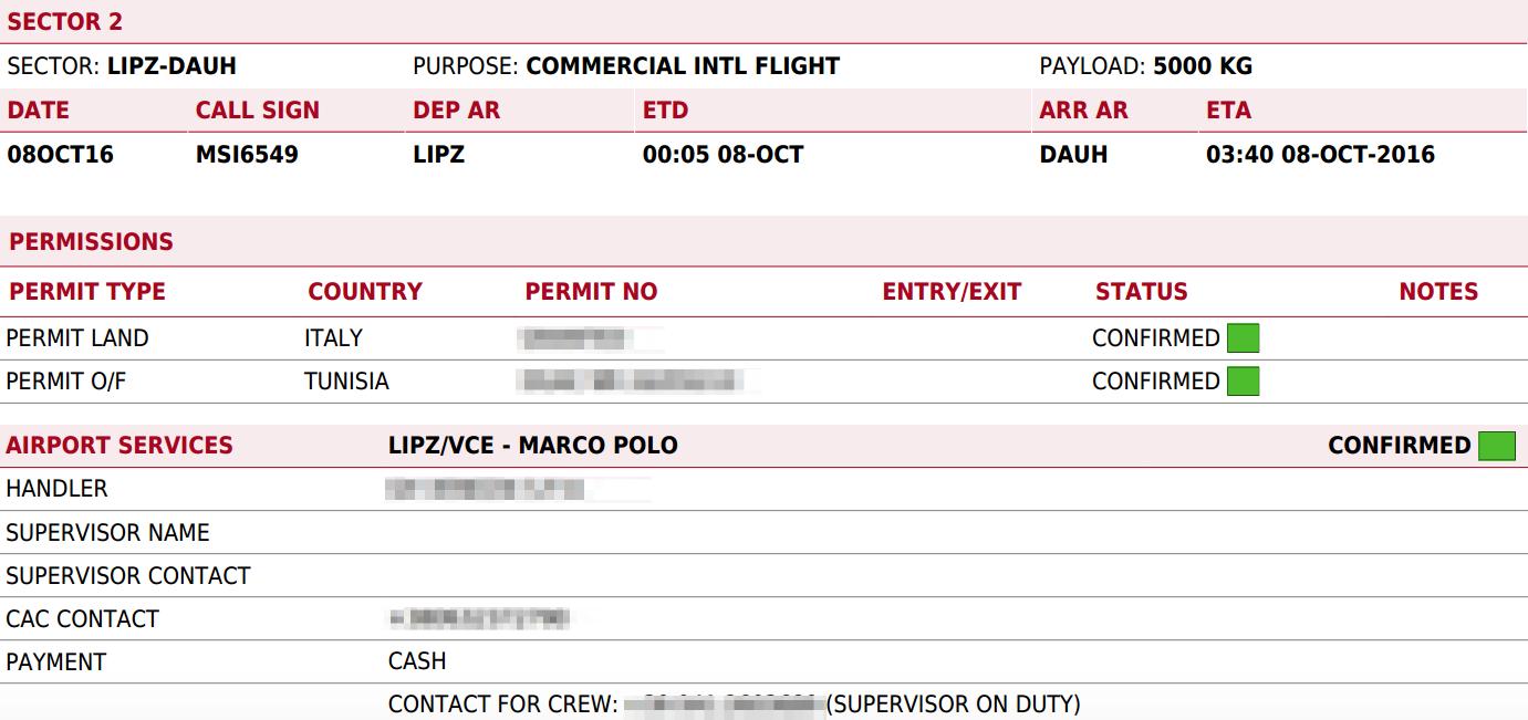 Flight brief