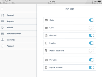 Enable payment methods