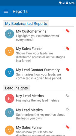 Mobile reports